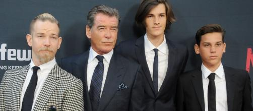 Pierce Brosnan and his three sons