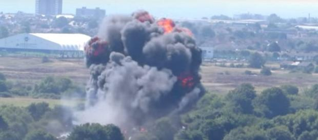 "Absturz bei der ""Shoreham Air Show"", Foto: YouTube"