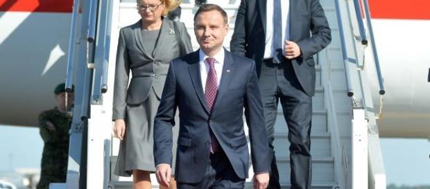 Andrzej Duda podczas wizyty w Estonii.