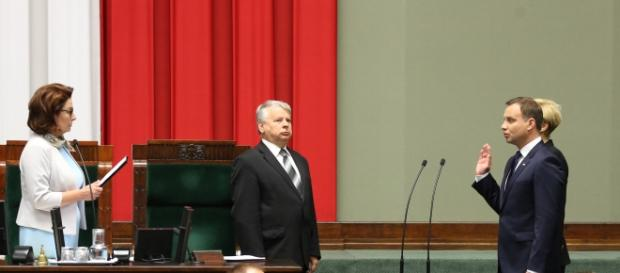 Przysięga Andrzeja Dudy na Konstytucję RP