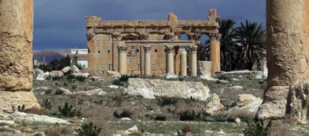 Templul Baal Shamin la 14.03.2014 (foto:AFP)