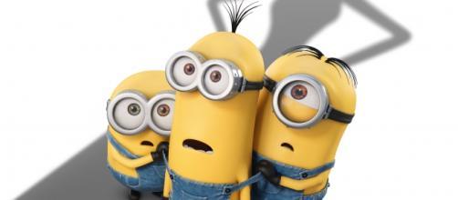 I tre minions Kevin, Stuart e Bob