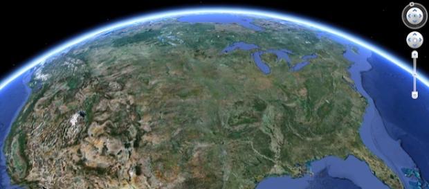 imagine din satelit prin Google Earth