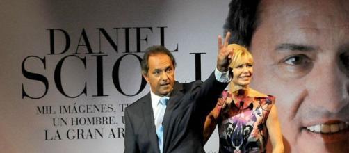 Scioli y su mujer Karina Rabolini