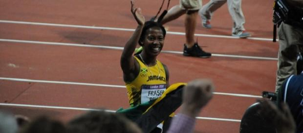 Victory in the 100 metres for Fraser-Pryce
