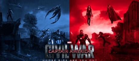 poster de Capitan América 3, Civil War