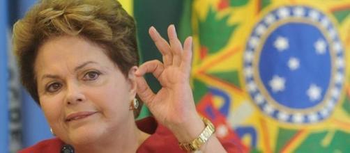 Dilma fala da crise. Foto: Reprodução R7.