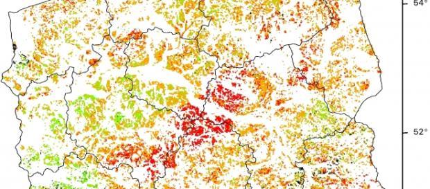 Mapa suszy z czerwca 2015 roku
