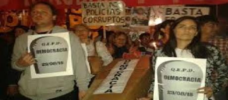 Protestas en Tucuman y represión policial
