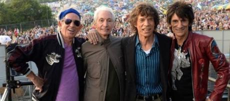 Richards, Watss, Jagger y Wood. Otra vez en Bs As.
