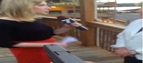 Alison Parker, segundos antes de ser asesinada