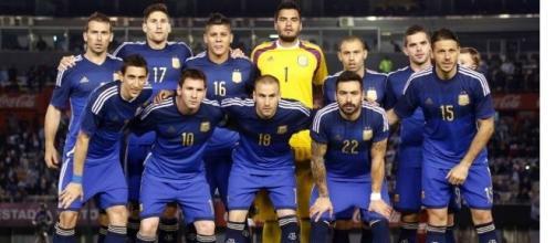 Selección Argentina vestida de azul