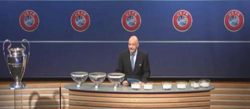 Sorteggio gironi Champions League in tv