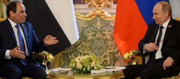 Al Sissi et Poutine au sommet de Moscou