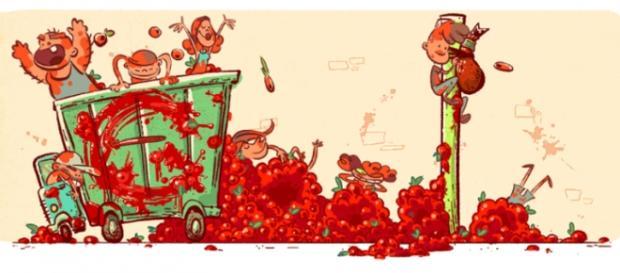 La Tomatina w Google Doodle - 70. rocznica