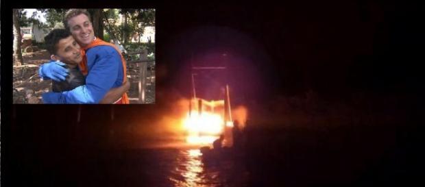 Luciano Huck salva artistas e crianças em incêndio