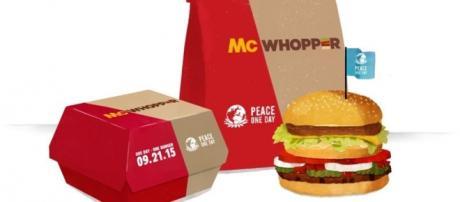 Fotografía simbólica creada por Burger King