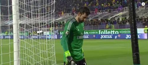 Il portiere del Milan Diego Lopez