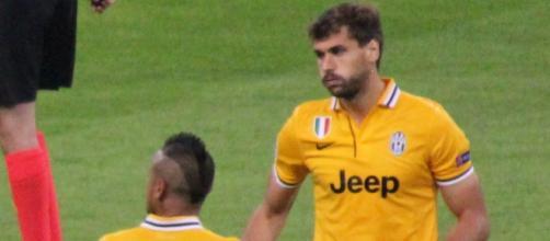 Imagen de Llorente con la camiseta de la Juve