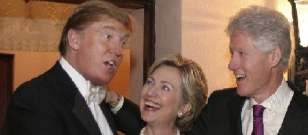 Donald Trump & Hillary Clinton.