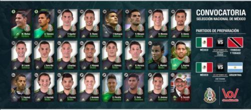 Convocatoria de la Selección Nacional de México