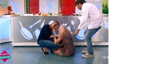 La caduta di Lisa Fusco in diretta su Rai Uno.