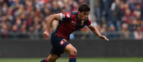 Diego Perotti con la maglia del Genoa