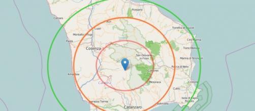Forte scossa di terremoto avvertita a Cosenza.