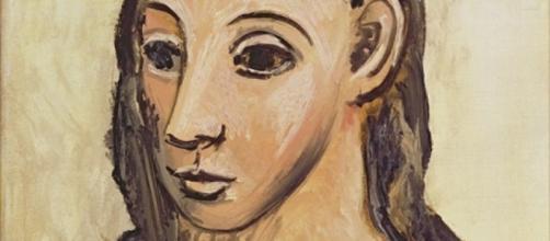 "Fragmento de ""Cabeza de mujer joven"" de Picasso"