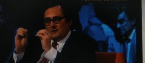 Paco Marhuenda en LSN y el autor del artículo.