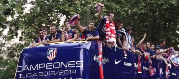 Imagen de cuando el Atleti ganó la Liga