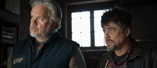 Tim Robbins y Benicio del Toro en la película