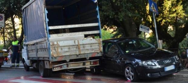 Il camion guidato dal tunisino ubriaco
