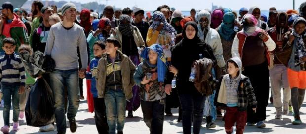 Imigrantes na Europa. Foto: Alberto Pizzoli / AFP