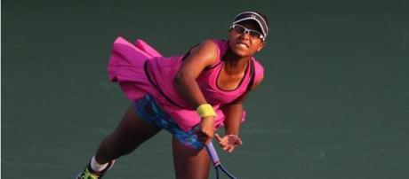 Victoria Duval disputando el US Open 2014.