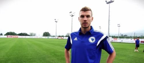 Edin Dzeko, nuovo attaccante della Roma
