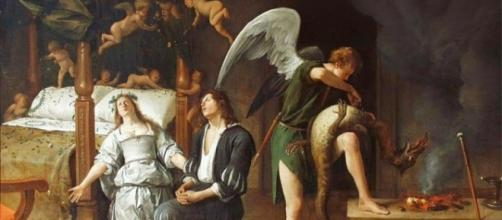 Jan Steen, Raffaele combatte il demone Asmodeo
