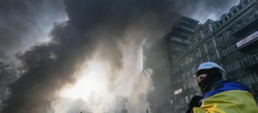 Scontri nella capitale ucraina, Kiev