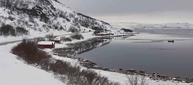Paesaggio autunnale nei dintorni di Kirkenes
