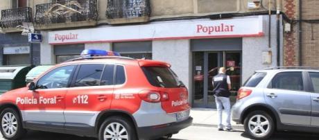 La sucursal del Banco Popular que ha sido atracada