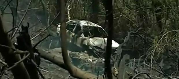 Veículo com cadáver foi encontrado pelos bombeiros