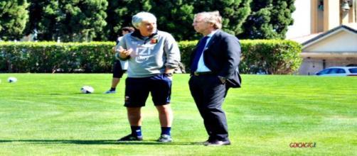 Gasperini e Preziosi a colloquio, foto: GenoaCfc