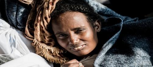 Inmigrante rescatado en Mediterráneo. MSF