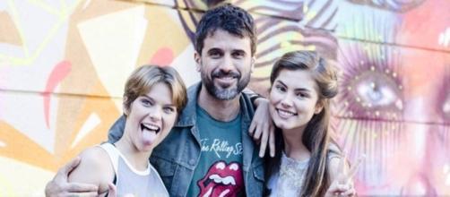 Karina, Lobão e Bianca. Foto: Globo