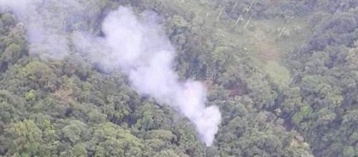 Momento del accidente. Foto: Policía de Colombia