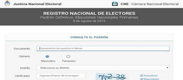 En la web es más fácil y rápido saber dónde votar