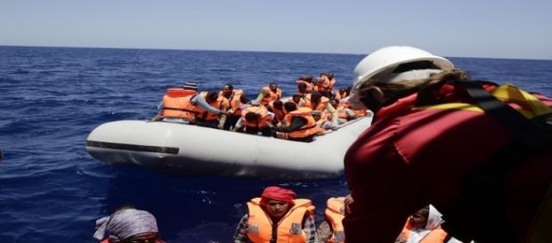 Rescate de inmigrantes en el Mediterráneo. MSF