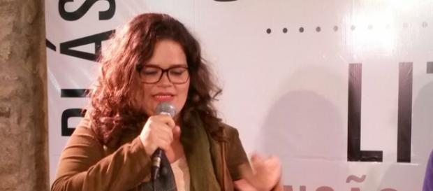 Sheyla apresenta a obra em bate-papo-Sesc-S.Paulo