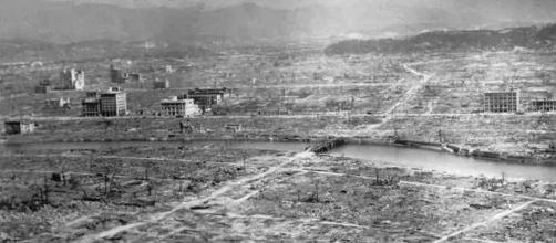 Hiroshima devastada pela bomba atómica.