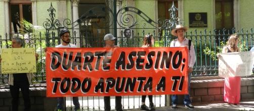Manifestantes acusan a Duarte por multihomicidio